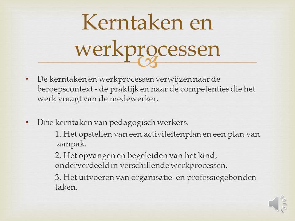 Kerntaken en werkprocessen