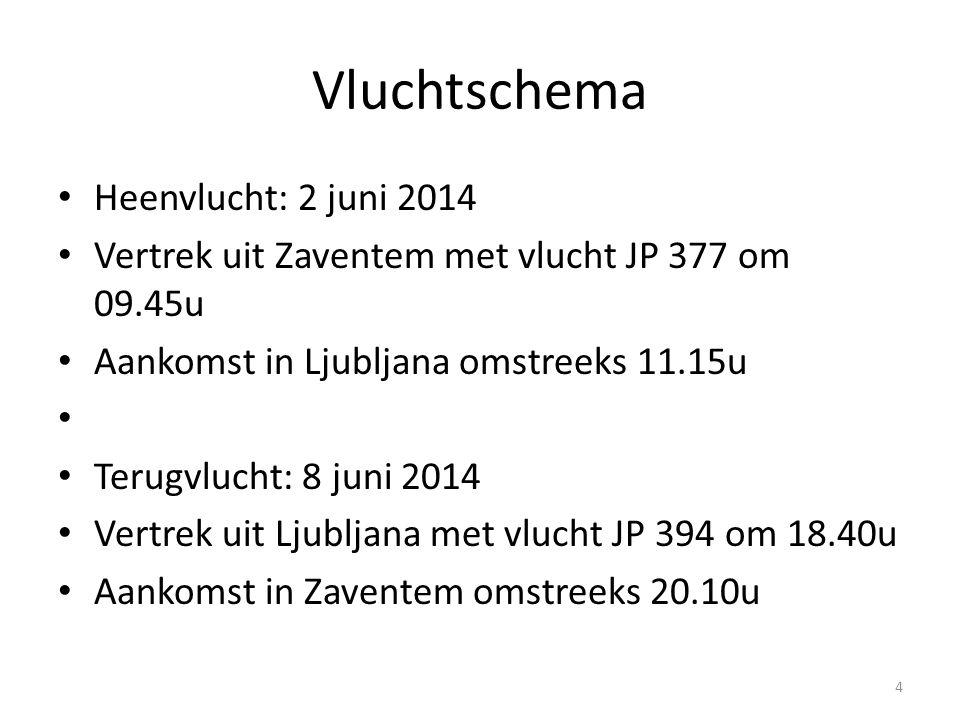Vluchtschema Heenvlucht: 2 juni 2014