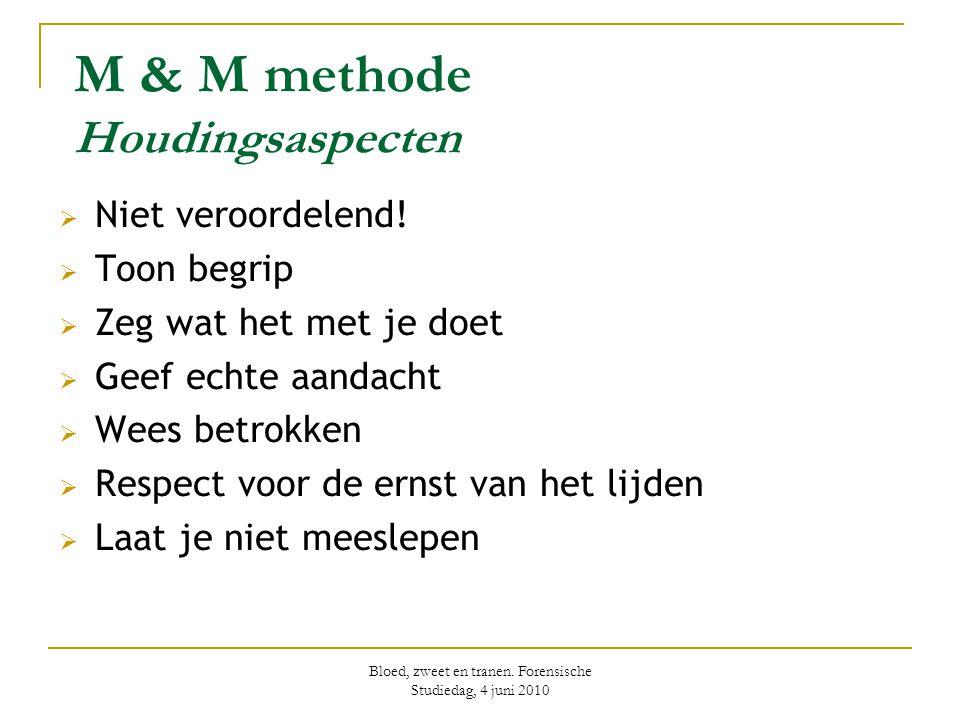 M & M methode Houdingsaspecten