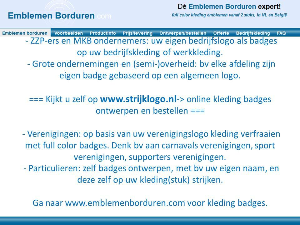 Voor wie zijn de kleding badges alias strijk emblemen geschikt en met welk doel.