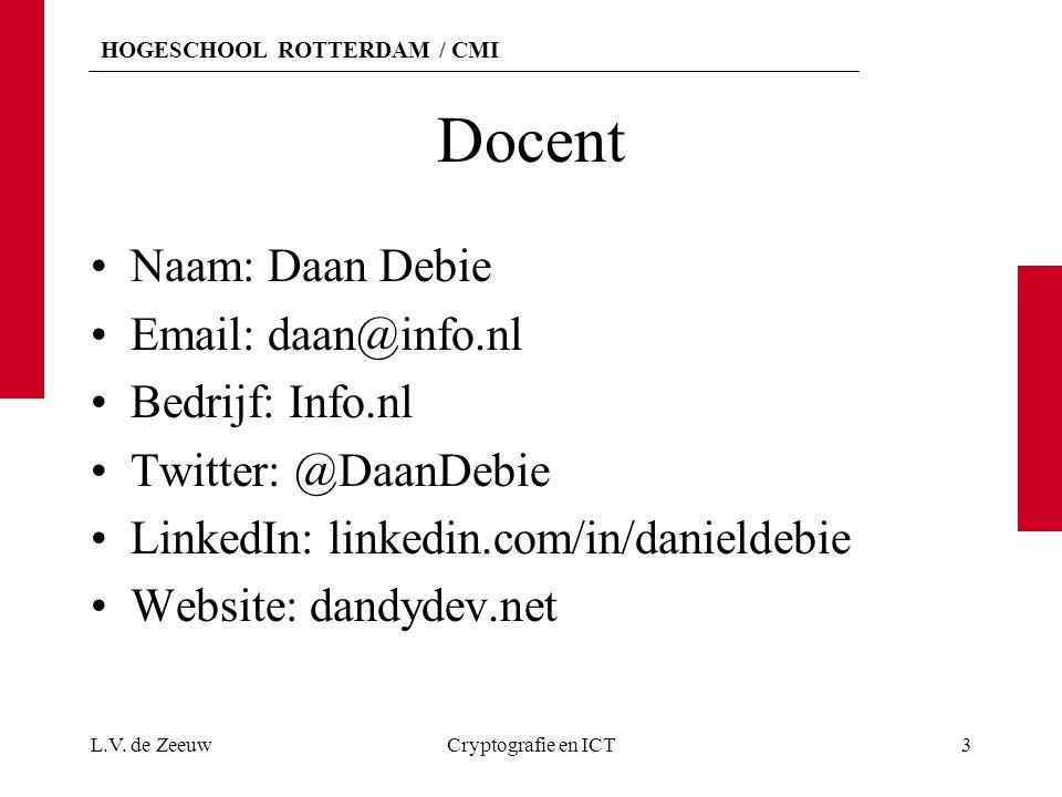 Docent Naam: Daan Debie