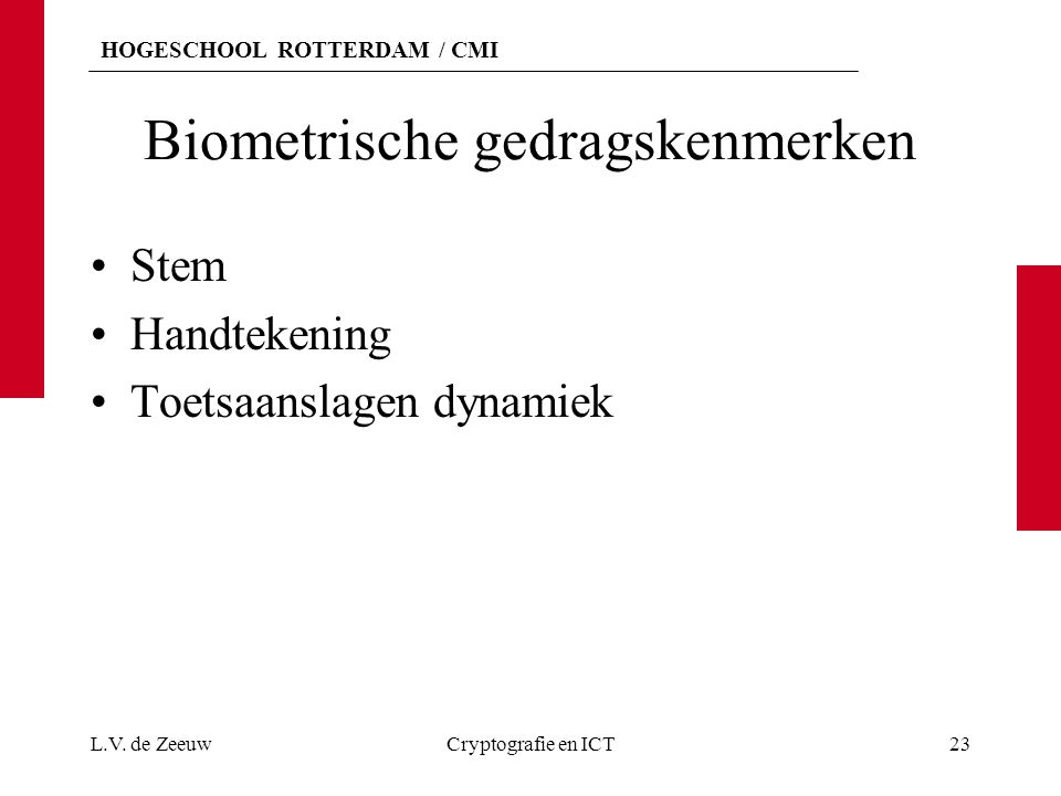 Biometrische gedragskenmerken