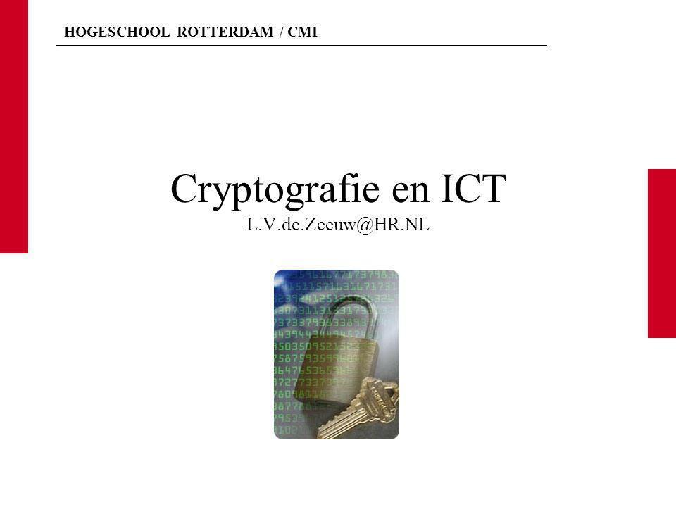 Cryptografie en ICT L.V.de.Zeeuw@HR.NL