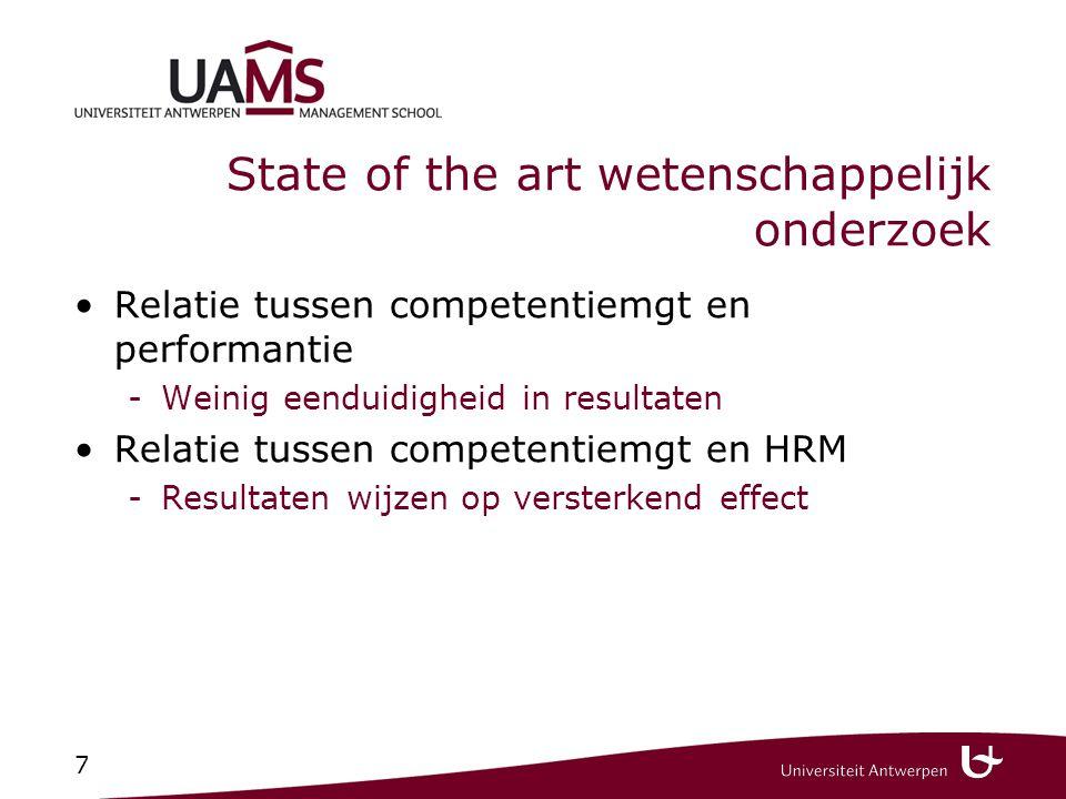 Relatie HRM (1) (PASO, 2003) Waarom wordt competentiemanagement gehanteerd