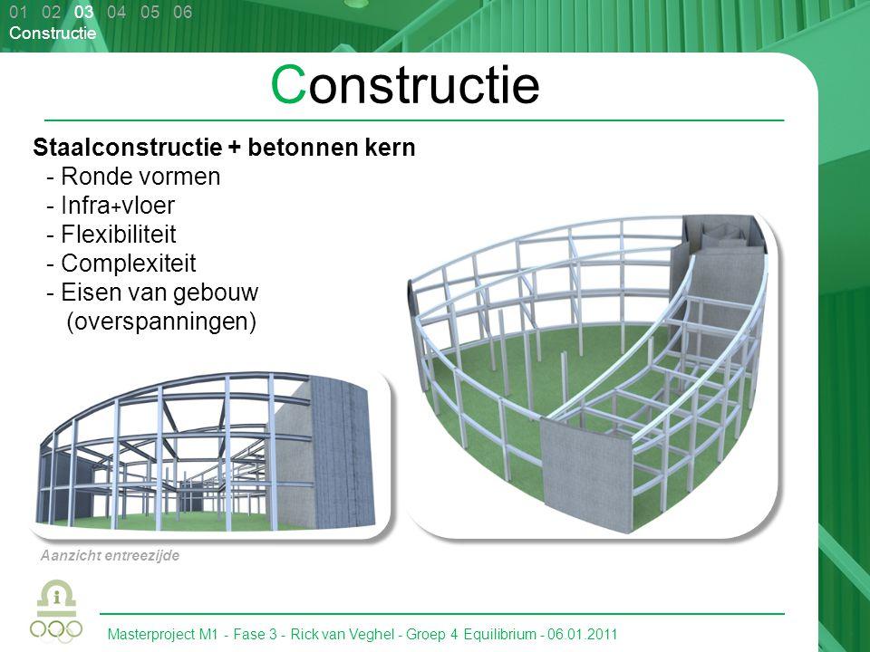 Constructie Staalconstructie + betonnen kern - Ronde vormen