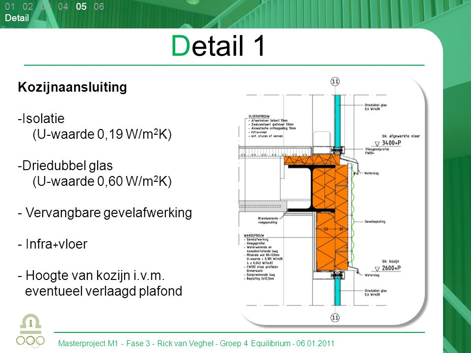 Detail 1 Kozijnaansluiting Isolatie (U-waarde 0,19 W/m2K)