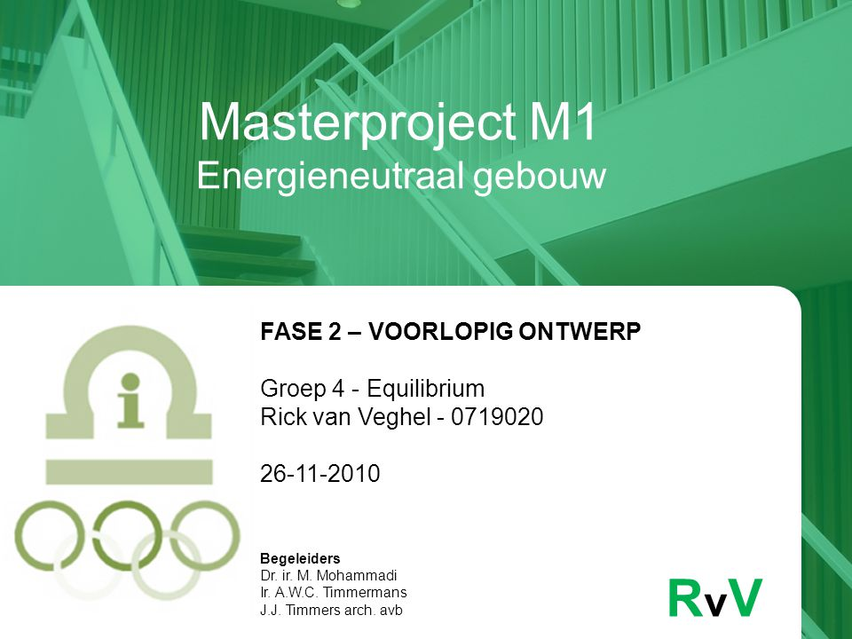 Masterproject M1 Energieneutraal gebouw