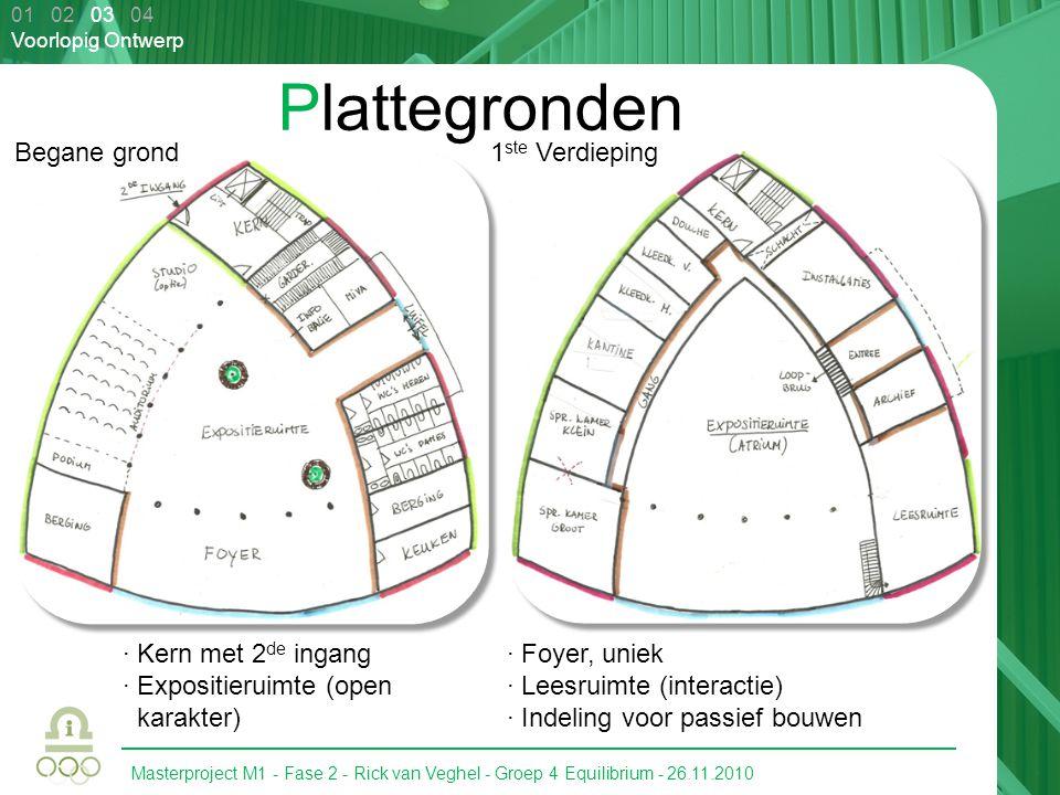 Plattegronden Begane grond 1ste Verdieping · Kern met 2de ingang