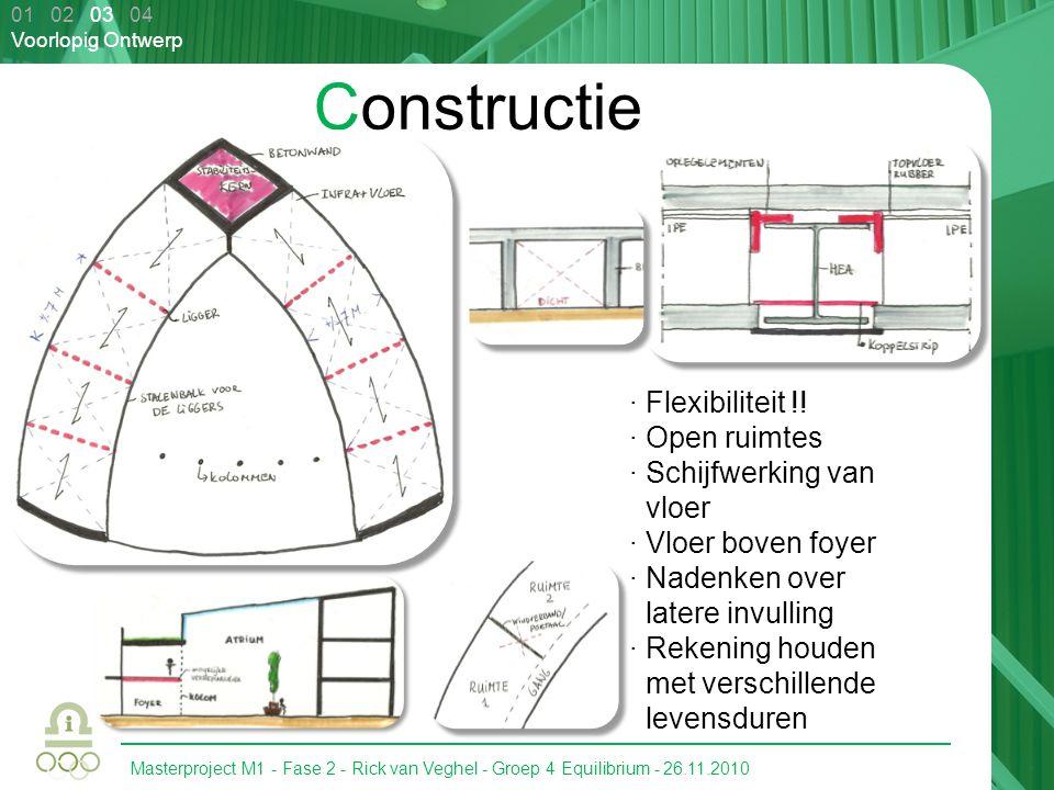 Constructie · Flexibiliteit !! · Open ruimtes · Schijfwerking van