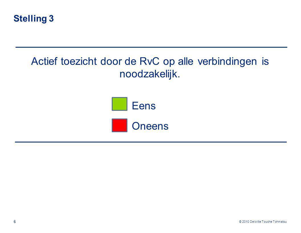 Actief toezicht door de RvC op alle verbindingen is noodzakelijk.
