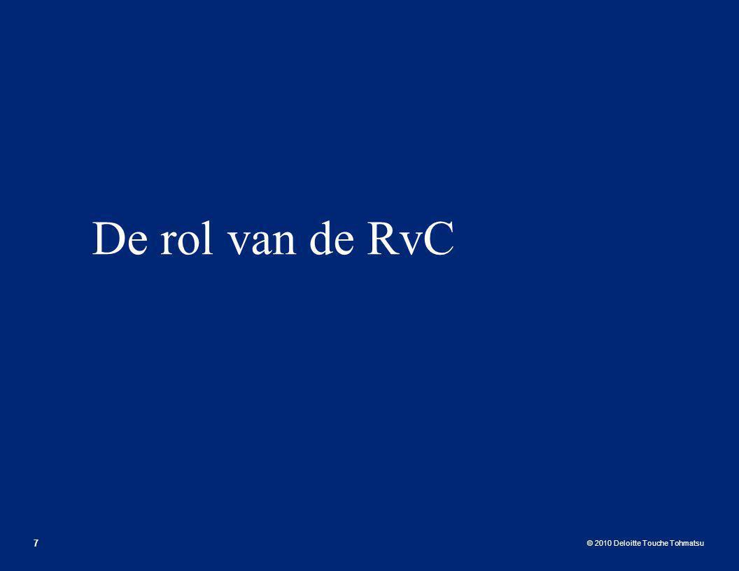 De rol van de RvC