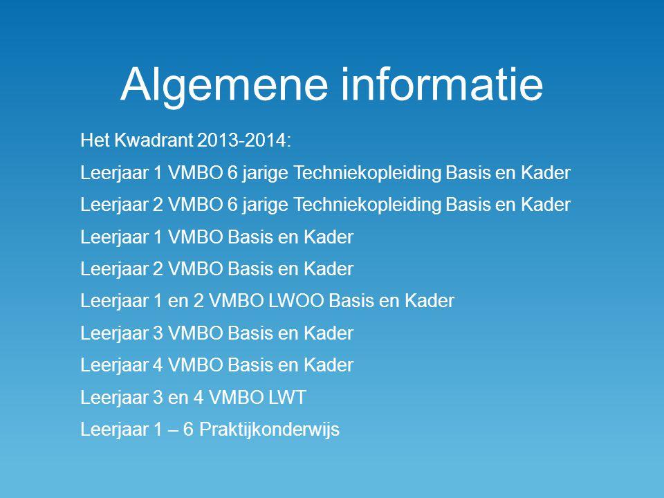Algemene informatie Het Kwadrant 2013-2014:
