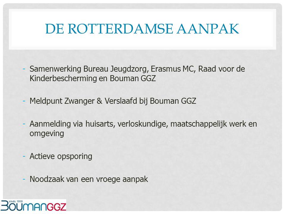 De Rotterdamse aanpak Samenwerking Bureau Jeugdzorg, Erasmus MC, Raad voor de Kinderbescherming en Bouman GGZ.