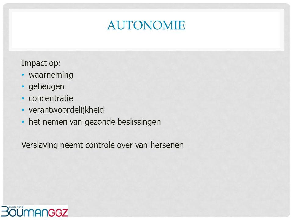Autonomie Impact op: waarneming geheugen concentratie