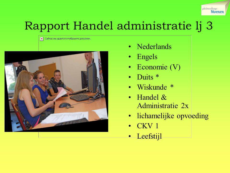 Rapport Handel administratie lj 3