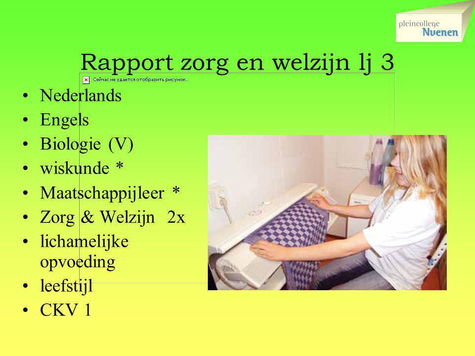 Rapport zorg en welzijn lj 3