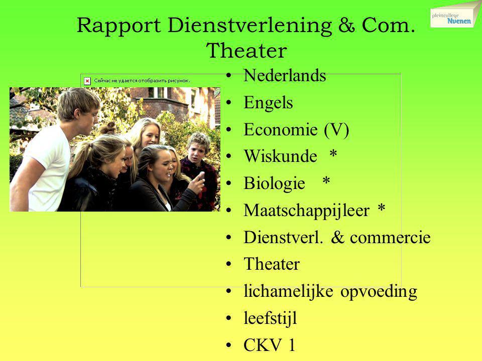 Rapport Dienstverlening & Com. Theater