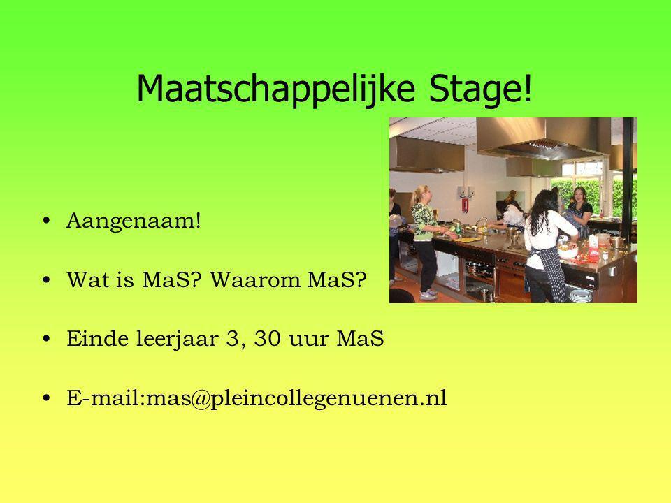 Maatschappelijke Stage!
