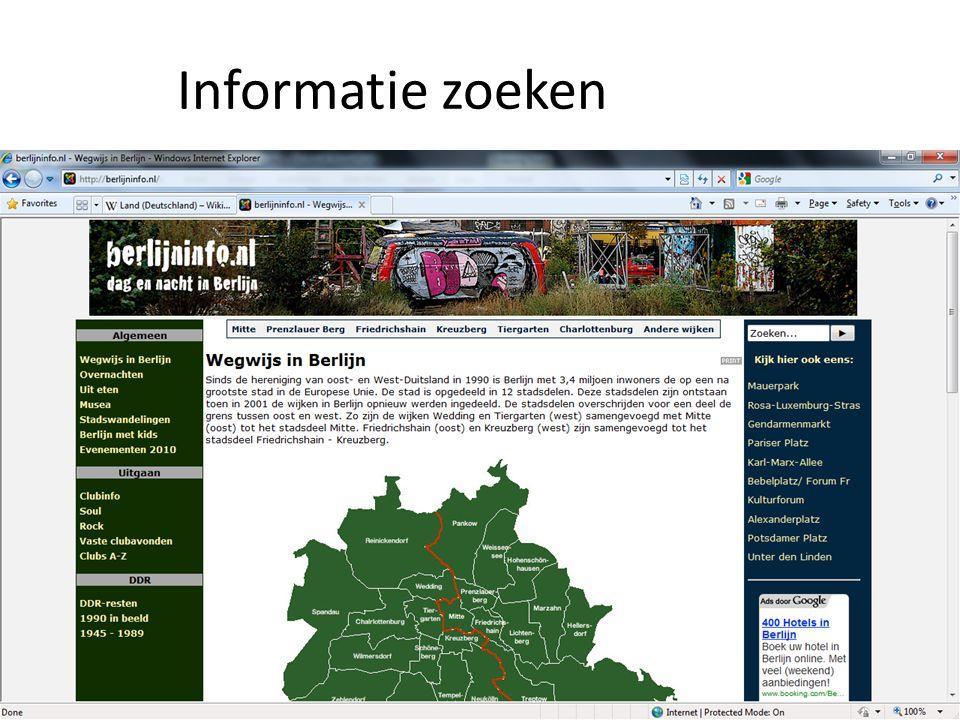 Informatie zoeken