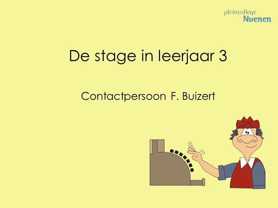 Contactpersoon F. Buizert