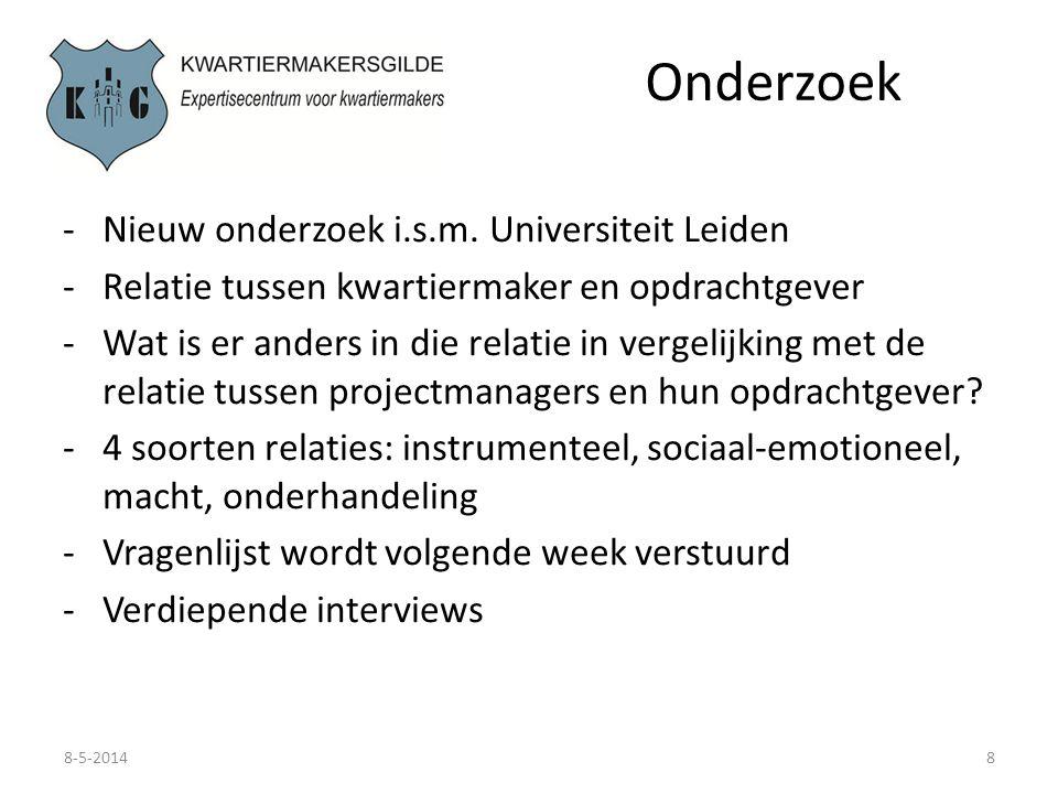 Onderzoek Nieuw onderzoek i.s.m. Universiteit Leiden