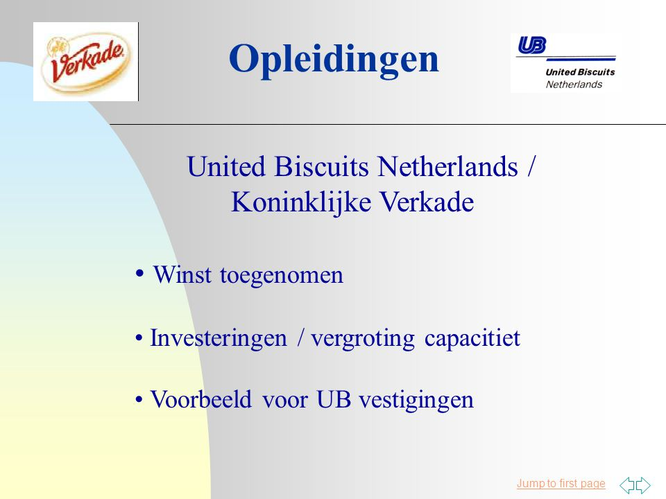 Opleidingen United Biscuits Netherlands / Koninklijke Verkade