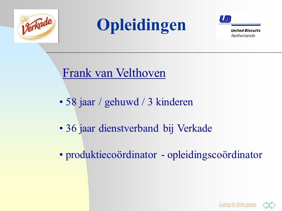 Opleidingen Frank van Velthoven 58 jaar / gehuwd / 3 kinderen