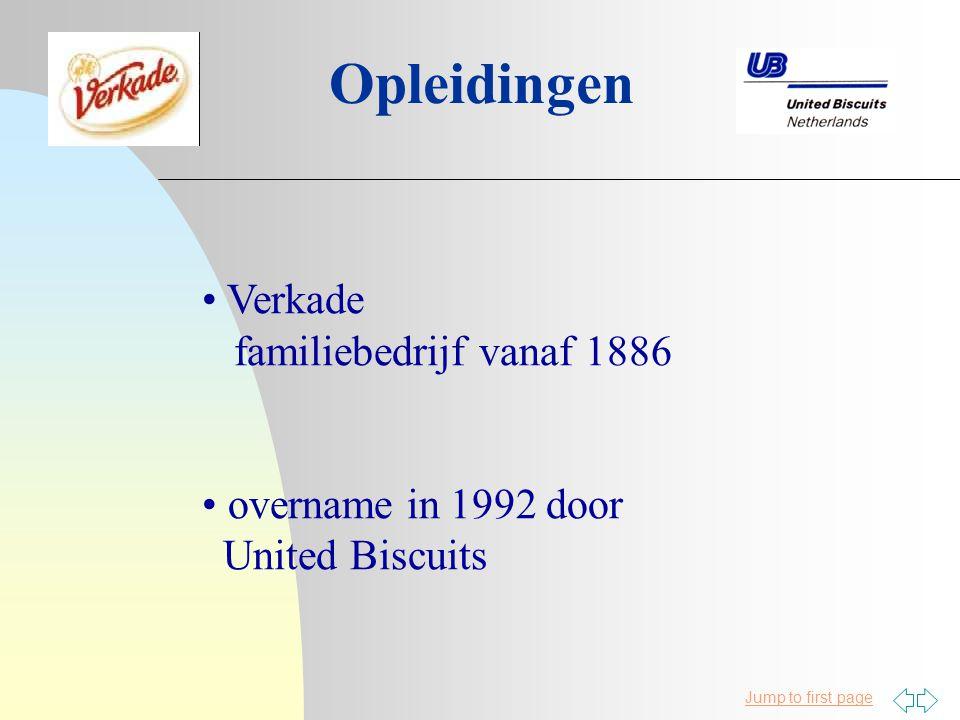 Opleidingen Verkade familiebedrijf vanaf 1886 overname in 1992 door