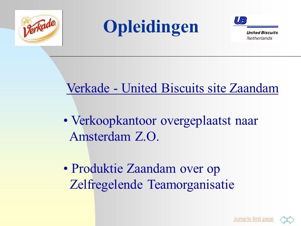 Opleidingen Verkade - United Biscuits site Zaandam