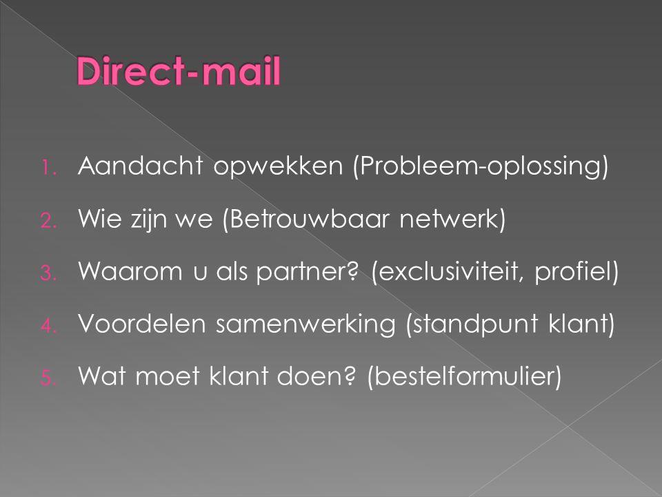 Direct-mail Aandacht opwekken (Probleem-oplossing)