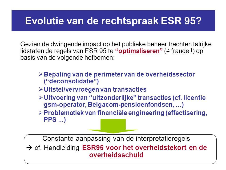 Evolutie van de rechtspraak ESR 95