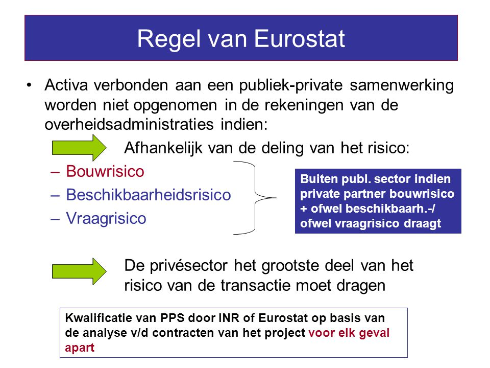 Regel van Eurostat