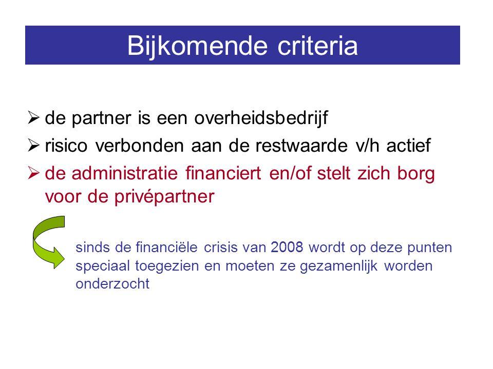 Bijkomende criteria de partner is een overheidsbedrijf