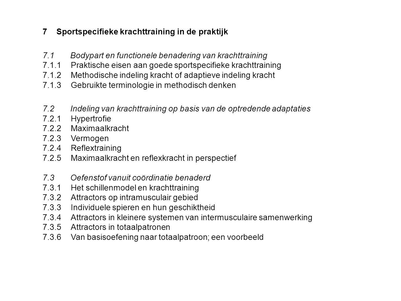 7 Sportspecifieke krachttraining in de praktijk