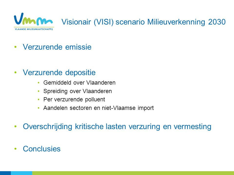 Visionair (VISI) scenario Milieuverkenning 2030