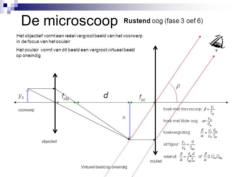 De microscoop Rustend oog (fase 3 oef 6)