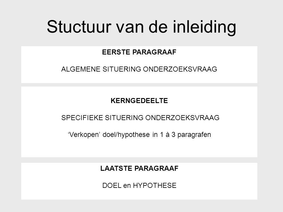 Stuctuur van de inleiding