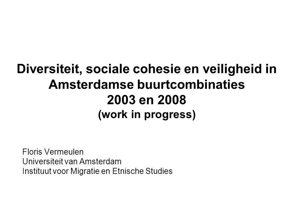 Diversiteit, sociale cohesie en veiligheid in Amsterdamse buurtcombinaties 2003 en 2008 (work in progress)