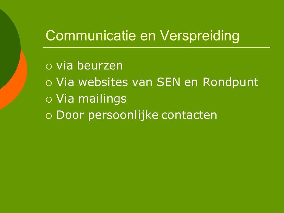 Communicatie en Verspreiding