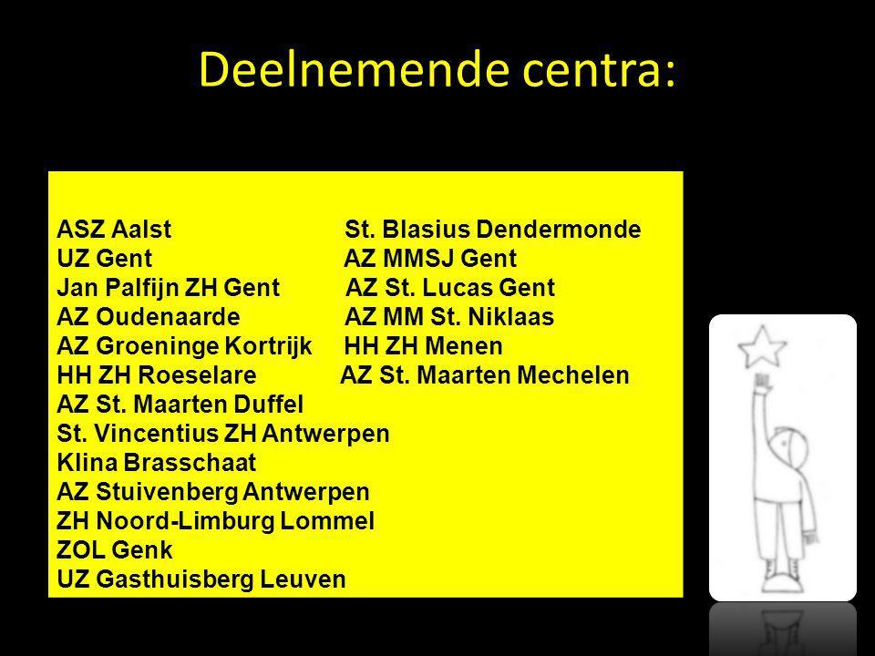 Deelnemende centra: ASZ Aalst St. Blasius Dendermonde