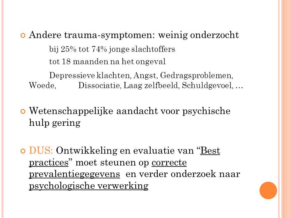 Andere trauma-symptomen: weinig onderzocht