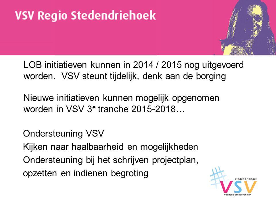 LOB initiatieven kunnen in 2014 / 2015 nog uitgevoerd worden