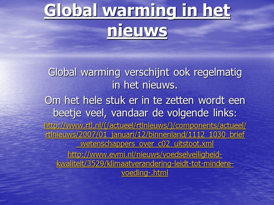 Global warming in het nieuws