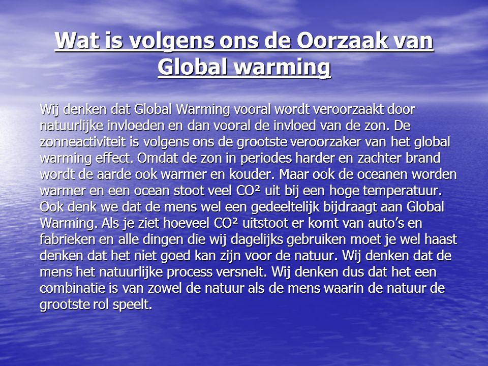 Wat is volgens ons de Oorzaak van Global warming