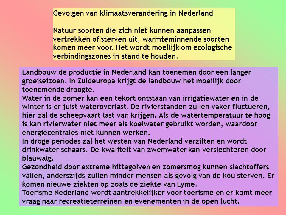 Gevolgen van klimaatsverandering in Nederland