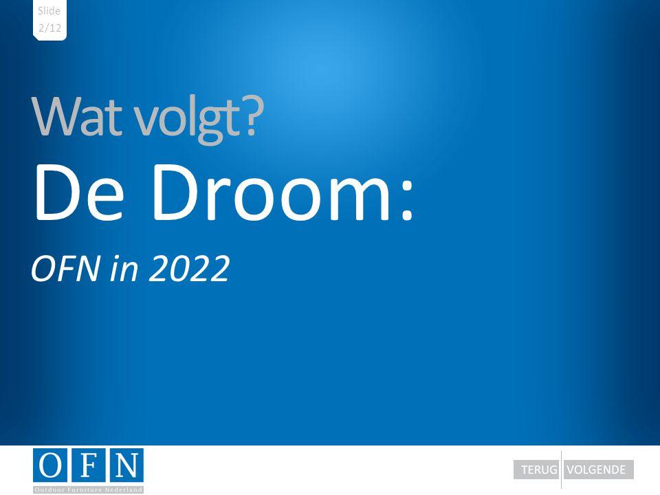 Slide 2/12 Wat volgt De Droom: OFN in 2022