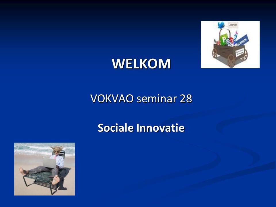 WELKOM VOKVAO seminar 28 Sociale Innovatie