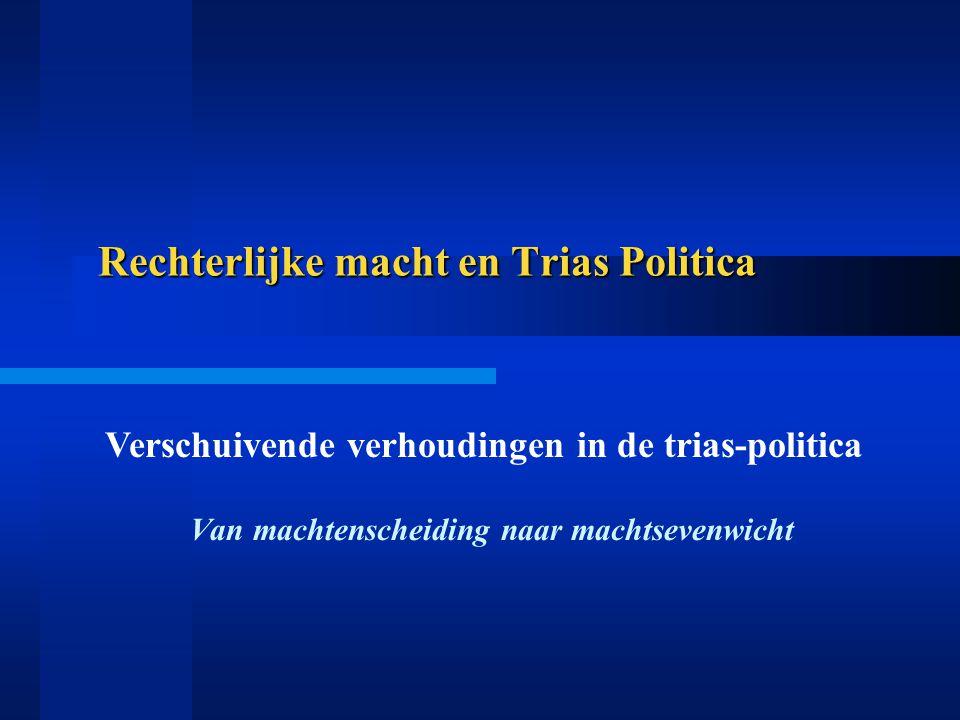 Rechterlijke macht en Trias Politica