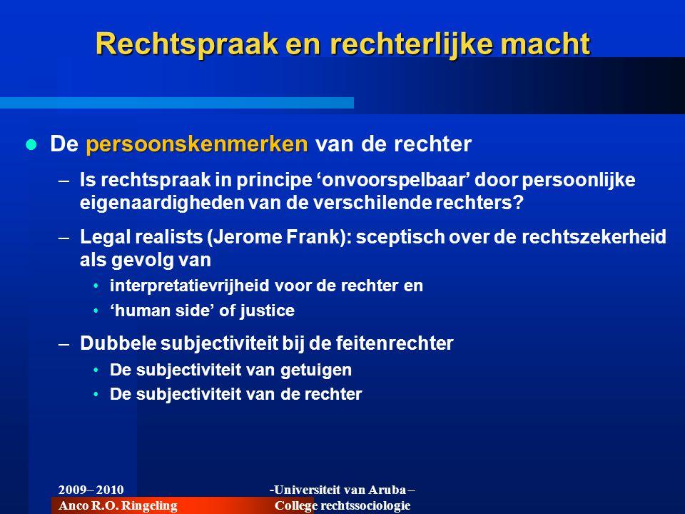 Rechtspraak en rechterlijke macht