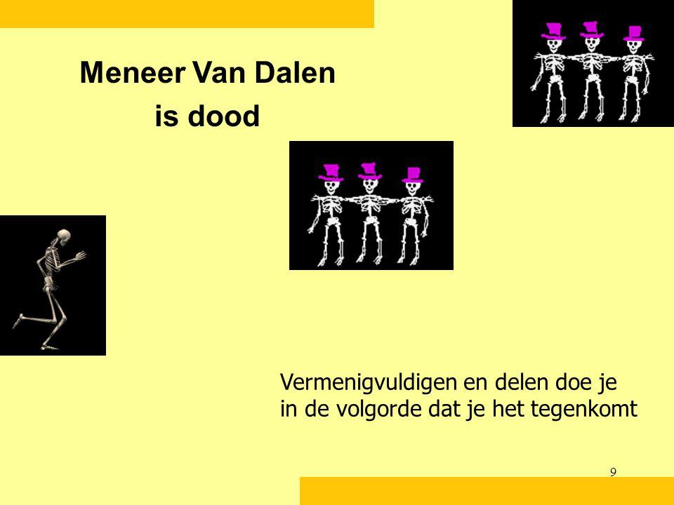 Meneer Van Dalen is dood